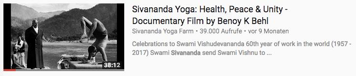 Vishnu Devananda Yoga Dokumentation